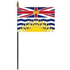 "12""x18"" Flag>British Columbia"