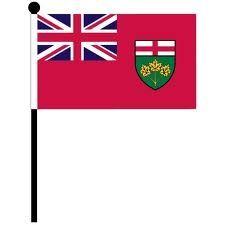 """12""""x18"""" Flag>Ontario"""