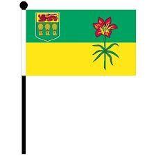 """12""""x18"""" Flag>Saskatchewan"""