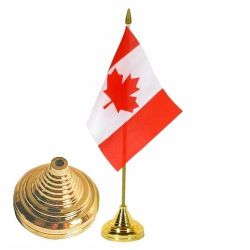 "1 Hole Flag Base >For 4X6"" flag gold"