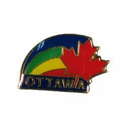 CDA Pin>Ottawa Rainbow Red Leaf