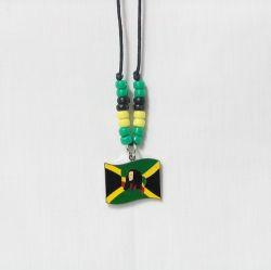 Necklace Lg>Bob Marley Jamaica