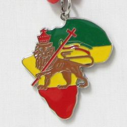 Pendant Map>Africa Map Lion