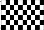 3'x5'>Checkered Blk