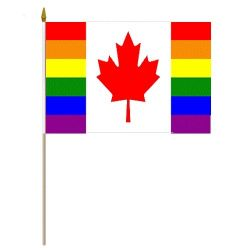 "CDA 12""x18"" Flag>Rainbow with ML"
