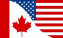 CDA 3'x5' Flag>Canada/USA Friendship
