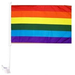 Car Flag XH>Rainbow