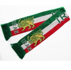 Scarf Knitted>Iran Lion