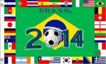 3'x5' Flag>2014 Soccer Brazil