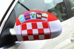 Car Wing Mirror Flag>Croatia