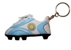 Soccer Shoe Keychain>Argentina