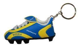 Soccer Shoe Keychain>Bosnia