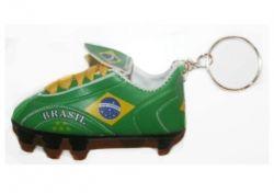 Soccer Shoe Keychain>Brazil
