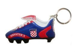 Soccer Shoe Keychain>Croatia