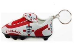 Soccer Shoe Keychain>England