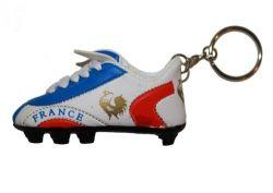 Soccer Shoe Keychain>France