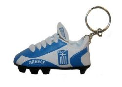 Soccer Shoe Keychain>Greece