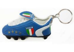 Soccer Shoe Keychain>Italy