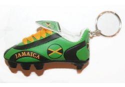 Soccer Shoe Keychain>Jamaica
