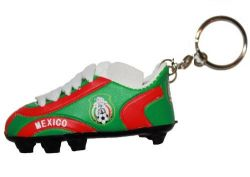 Soccer Shoe Keychain>Mexico