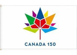 CDA Flag 2'x3'>Canada 150 Wht