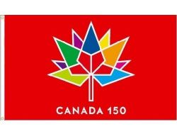CDA Flag 2'x3'>Canada 150 Red
