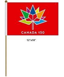 """CDA Flag 12""""x18"""">Canada150 Red"""