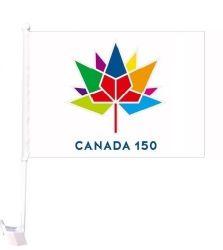 CDA Car Flag XH>Canada 150 Wht