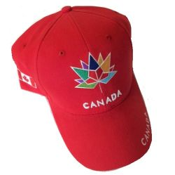 CDA Cap>Canada Multi Color Emb. Red