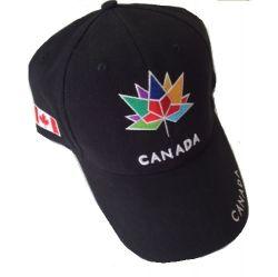 CDA Cap>Canada150 Col.Emb.Blk
