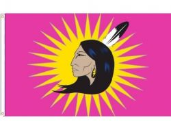 3'x5' Flag>Oka Woman Warrior
