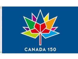 CDA Flag 2'x3'>Canada150 Blue