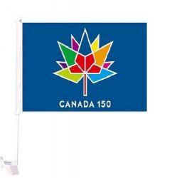 CDA Car Flag XH>Canada150 Blue