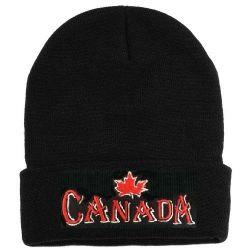 CDA Knitted Toque>Canada M.Leaf 3D Emb.