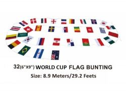 """Bunting>32 International flags of 6""""x9"""""""