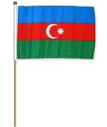 "12""x18 Flag>Azerbaijan"