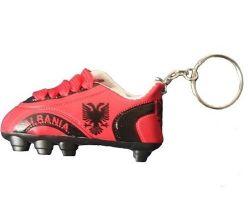 Soccer Shoe Keychain>Albania