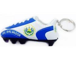 Soccer Shoe Keychain>El Salvador