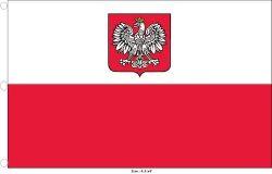 Flag 4.5x9ft>Poland Eagle Premium